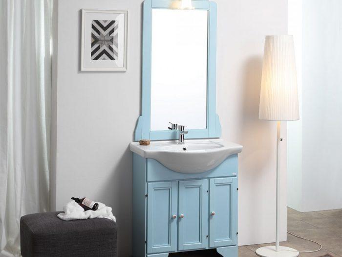 mobile bagno azzurro