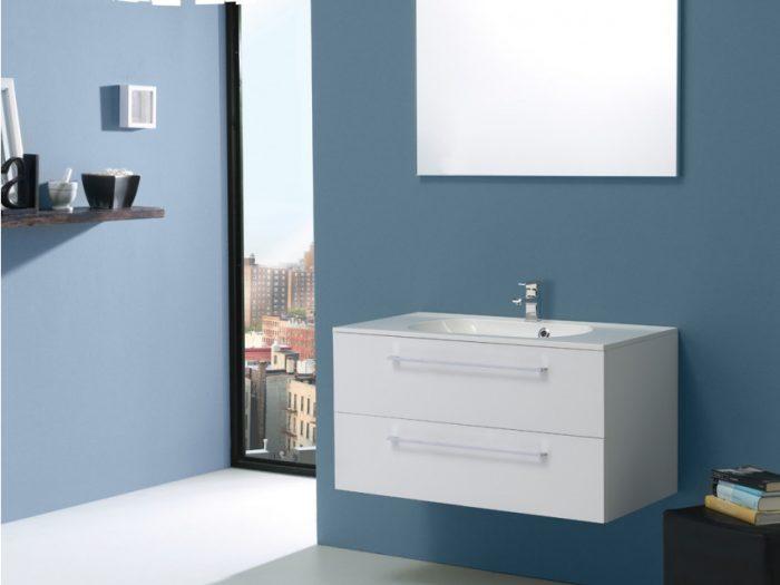 mobile bagno bianco lucido