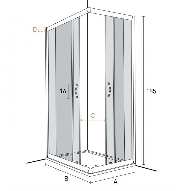Parliamo di dimensioni di box doccia kv store kv blog - Grandezza piatto doccia ...