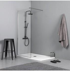 Parete per box doccia walk in adatto a sostituire la vasca da bagno