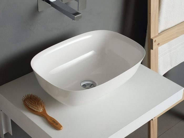 lavabo d'appoggio ovale