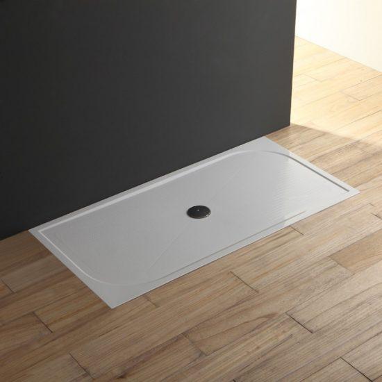 Piatto doccia in resina sottile a filo 80x140 cm