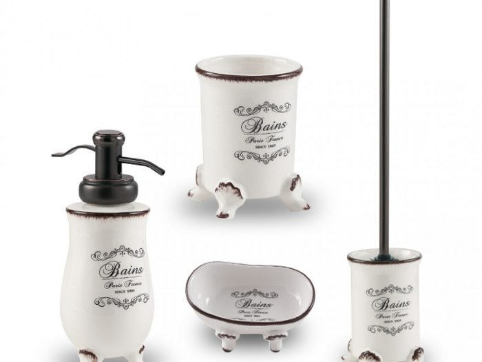 set accessori in ceramica decorazione shabby