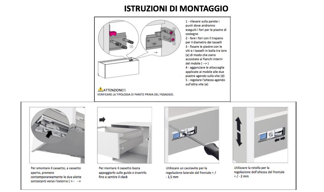 Come Montare Un Mobile Da Bagno Sospeso.Montaggio E Regolazione Cassetti Nel Mobile Bagno Kv Store
