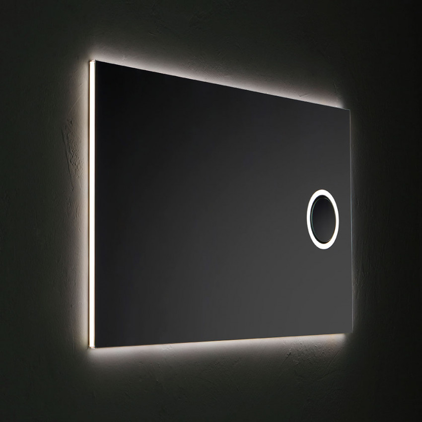 Specchiera con retro illuminazione a led e specchietto ingranditore
