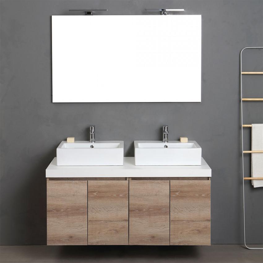 Mobile doppio lavabo della serie Valentina di mobili componibili