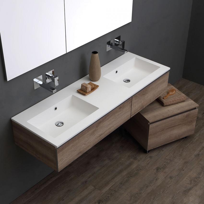 Esempio di mobile con doppio lavabo di KV Store