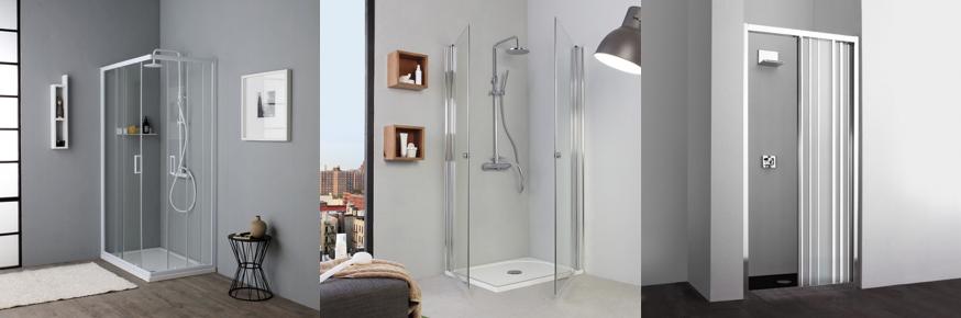 Categoria di box doccia con diverse aperture e caratteristiche