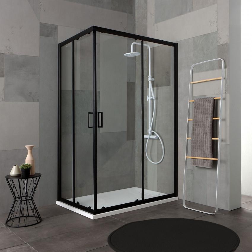 Box doccia con profili neri serie City
