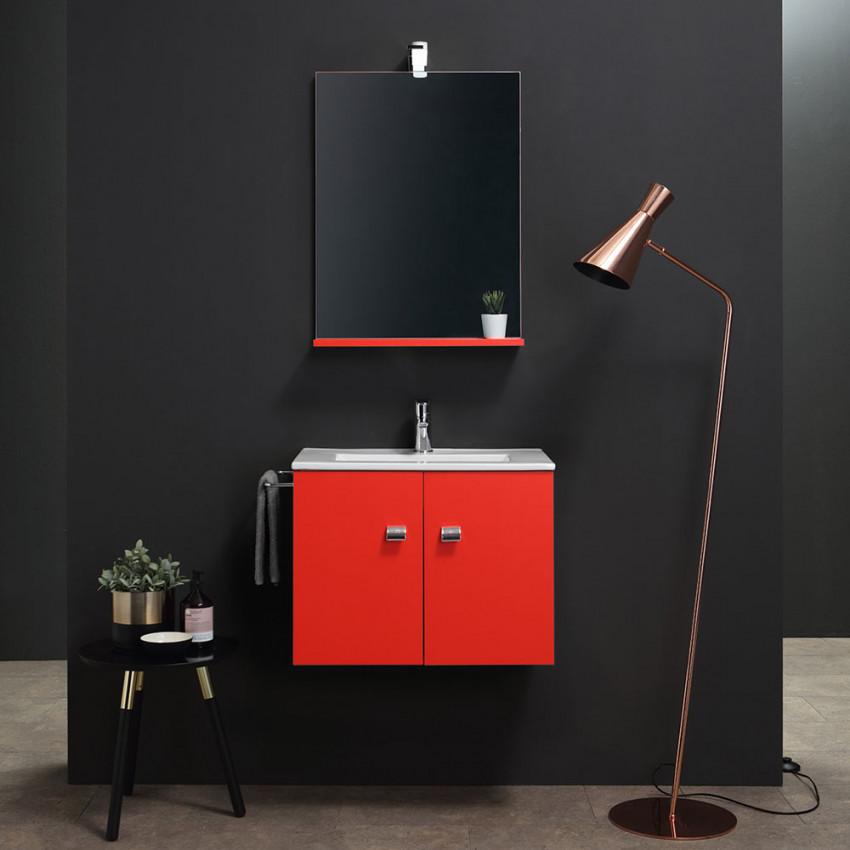 bagno piccolo - mobile salva-spazio Square rosso