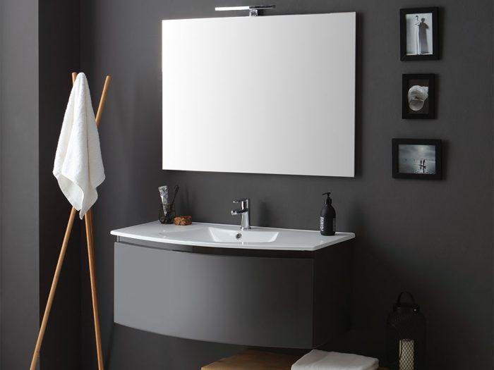 mobile bagno sospeso Riva color grigio antracite