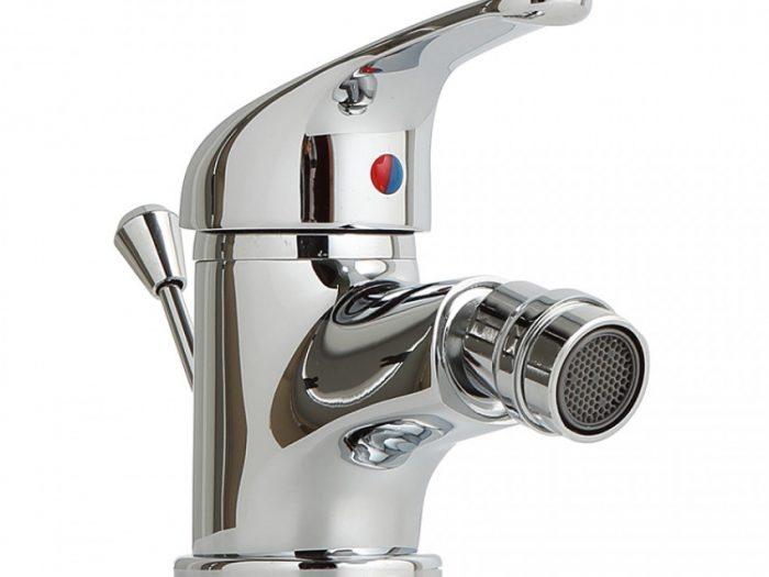 rubinetto cromato per  bidet con rompigetto