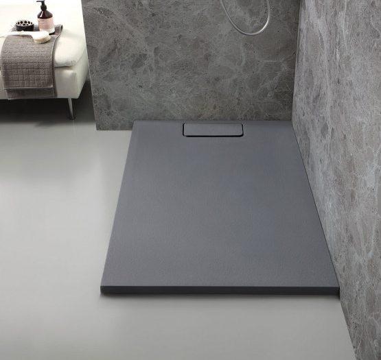 piatto doccia in marmoresina mart antracite