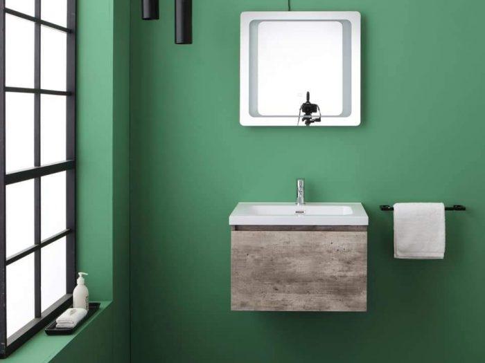 mobile bagno sospeso grigio cemento Madrid