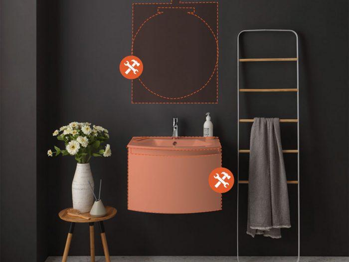 Mobile bagno configurabile Riva