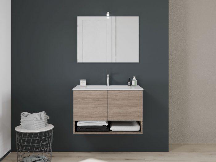 mobile bagno Venezia con ante 80cm