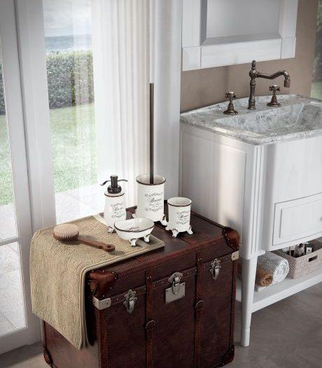 set di accessori bagno da appoggio
