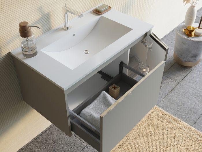 mobile bagno in mdf tortora opaco
