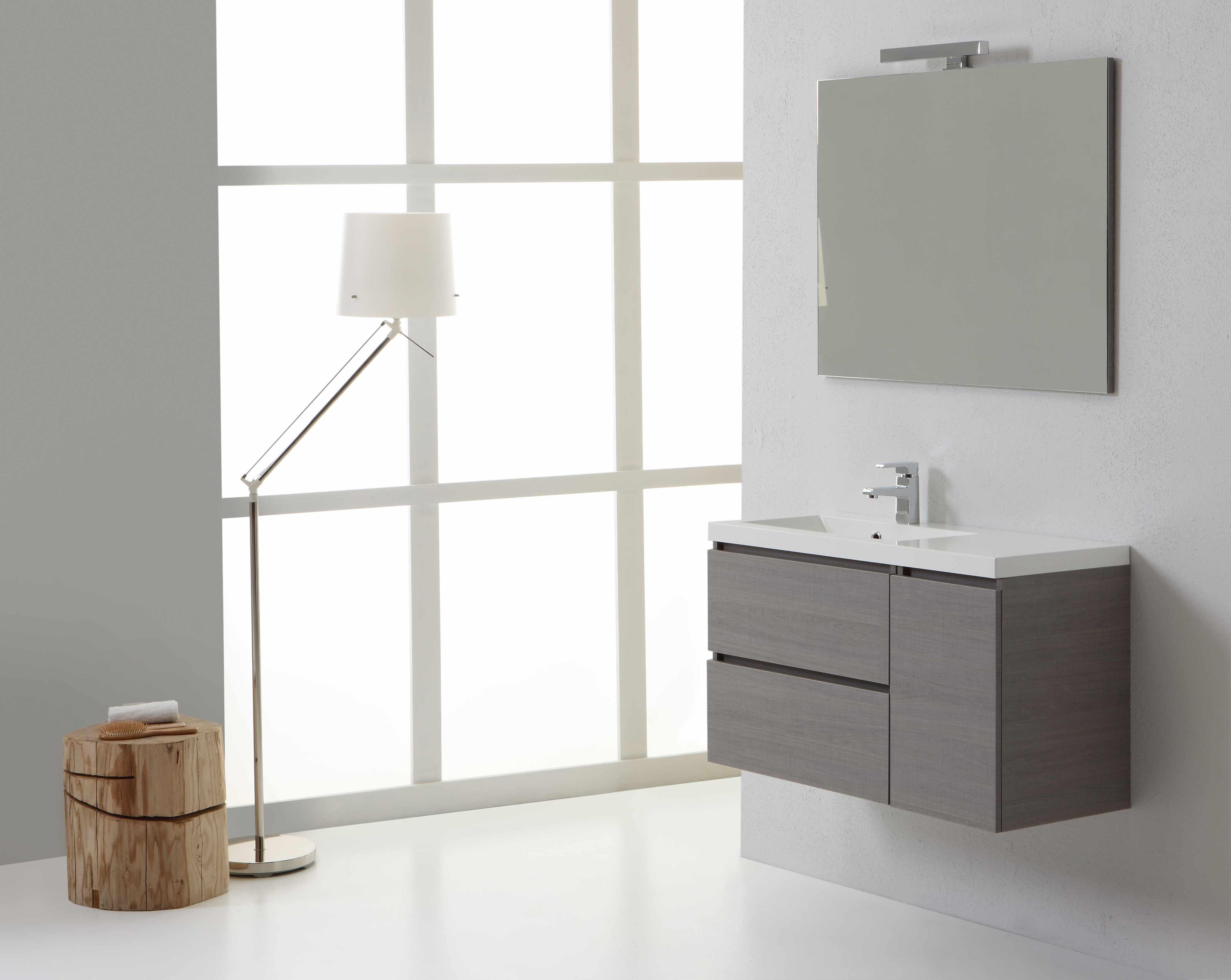 Arredo per bagno sospeso dallo stile moderno larghezza 90 cm con cassetti ebay - Bagno stile moderno ...