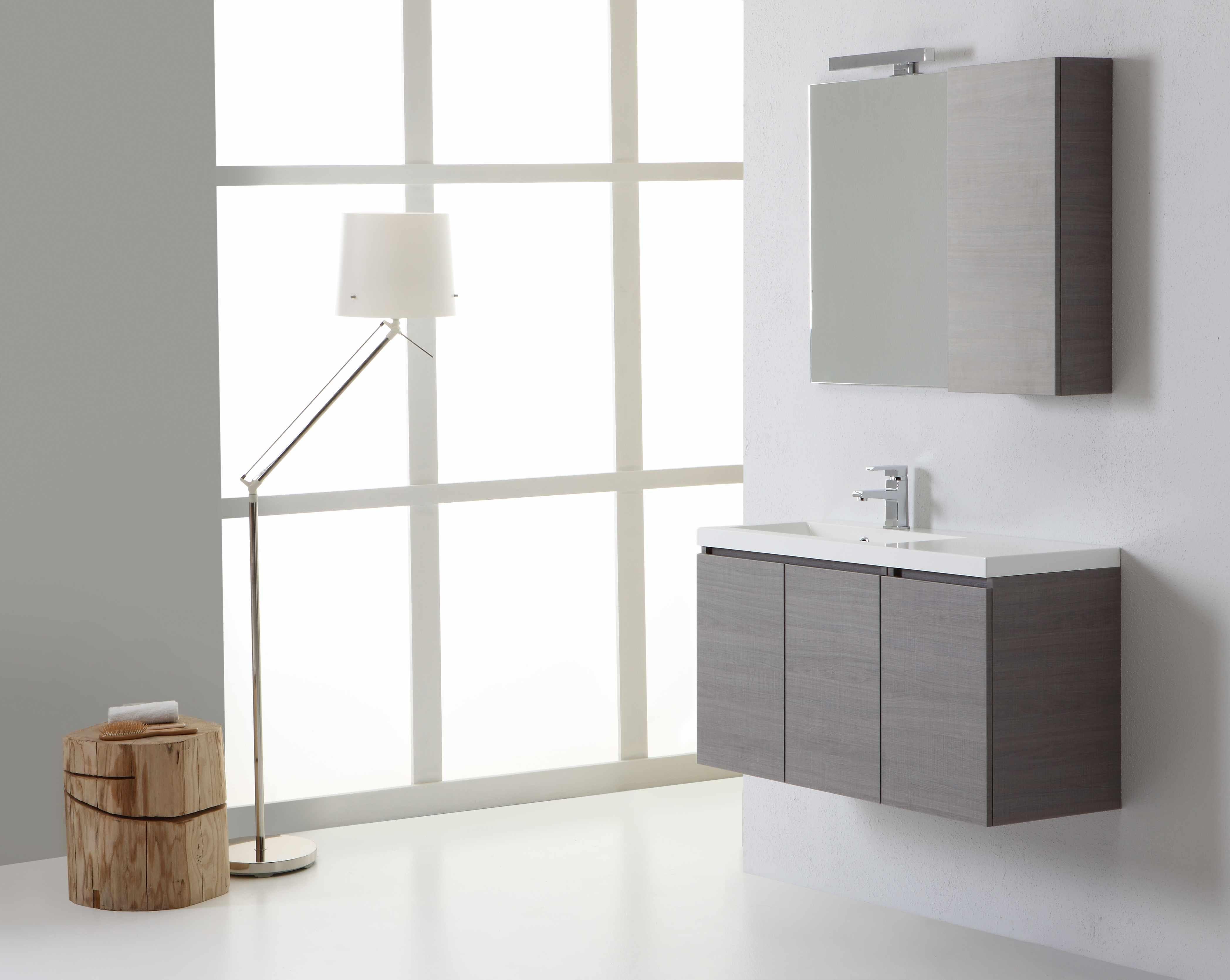 Pensili Da Bagno Economici : Mobile bagno manhattan da 90 cm sinistro con ante specchio con