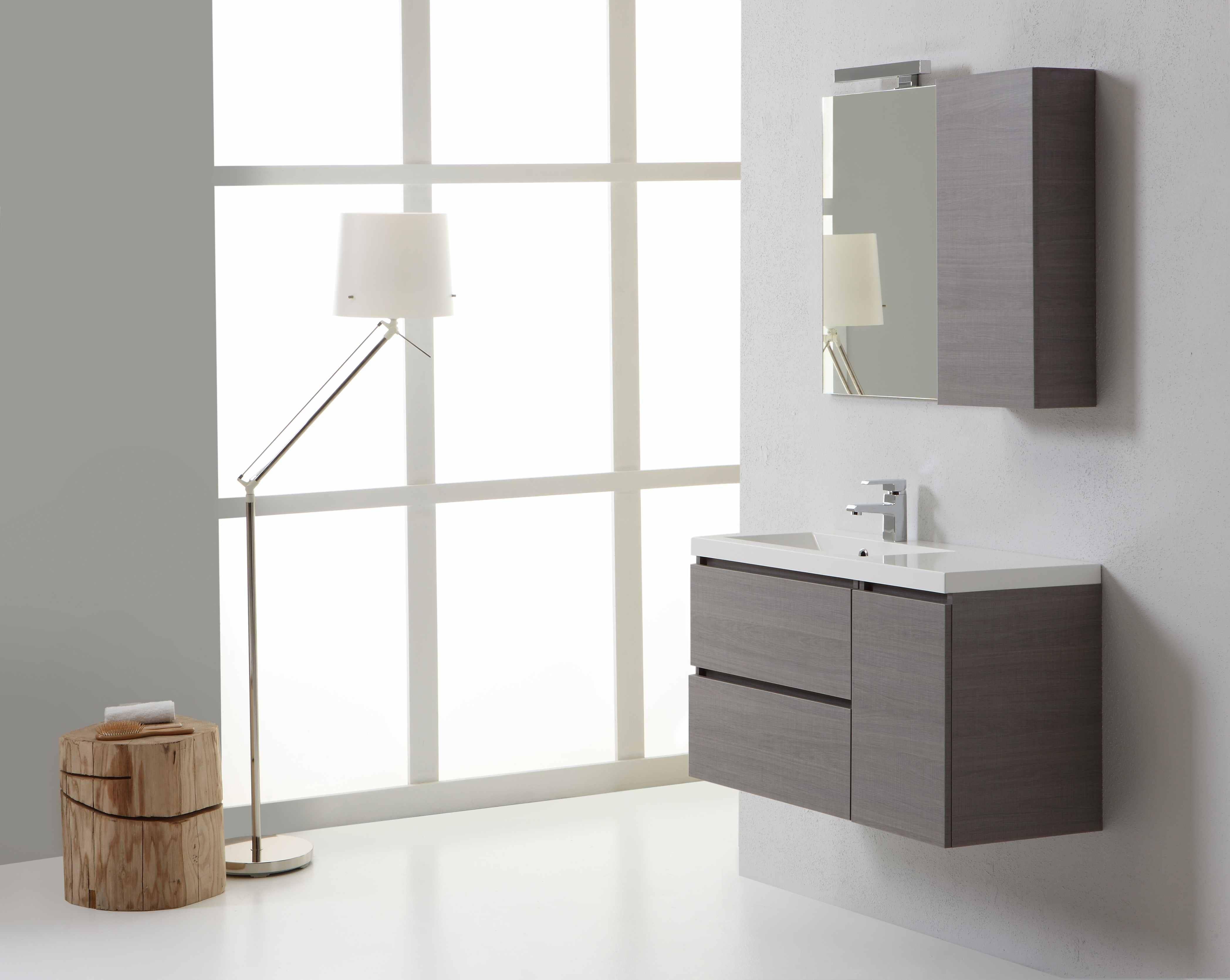 Mobile da bagno finitura grigio moderno disponibile online in varie dimensioni ebay - Bagno moderno grigio ...
