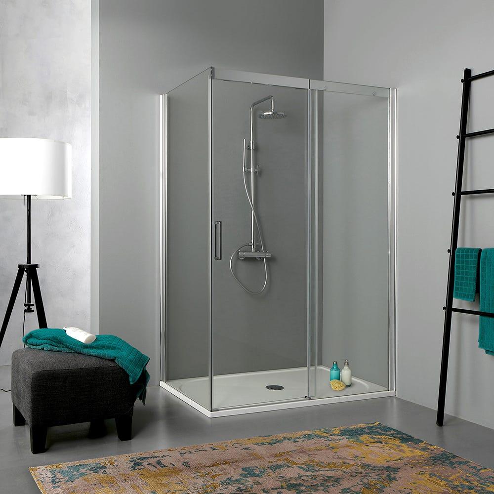 box doccia 120x70 moderno in cristallo trasparente eur 372 90 picclick it. Black Bedroom Furniture Sets. Home Design Ideas