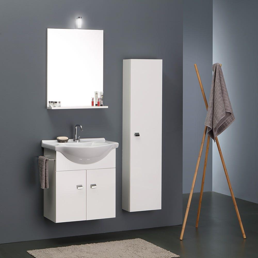 Mobile bagno piccoli spazi da cm 89 con colonna for Mobile bagno salvaspazio