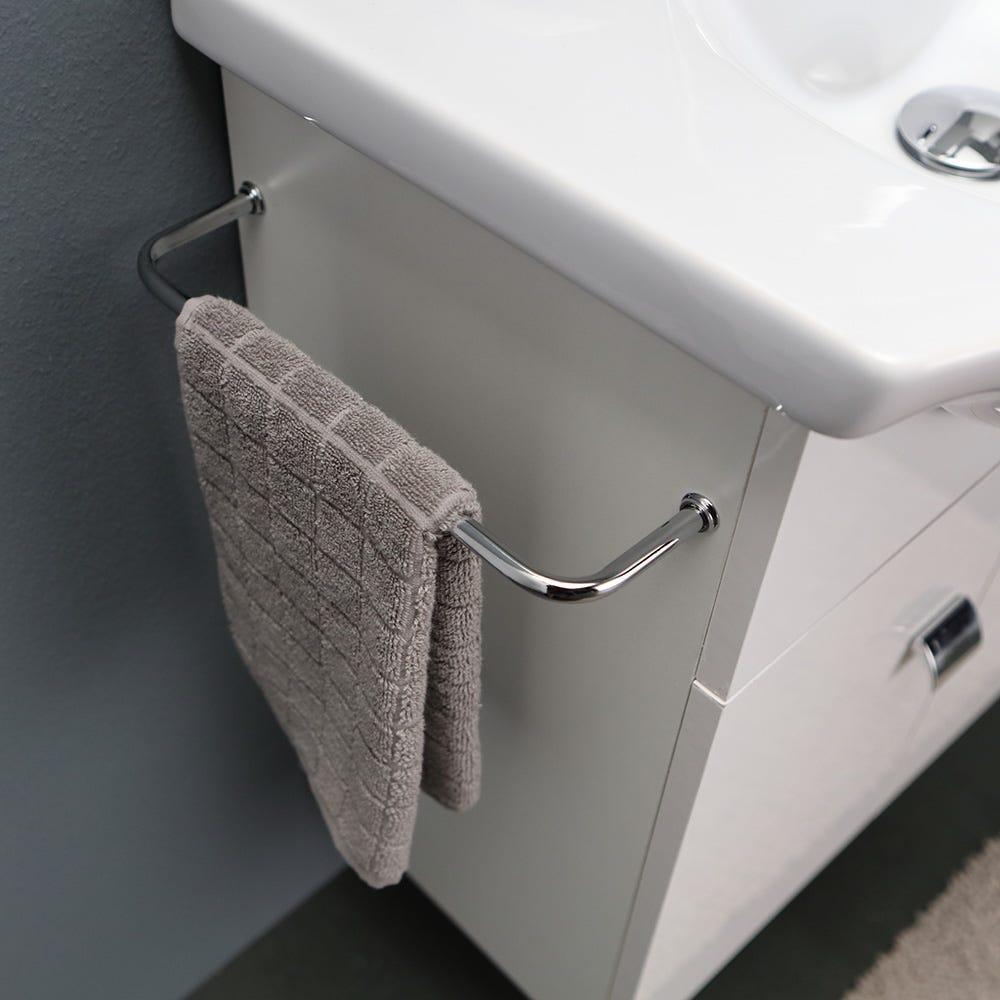 Mobile bagno piccoli spazi da cm 89 con colonna salvaspazio bianco ebay - Mobile bagno salvaspazio ...