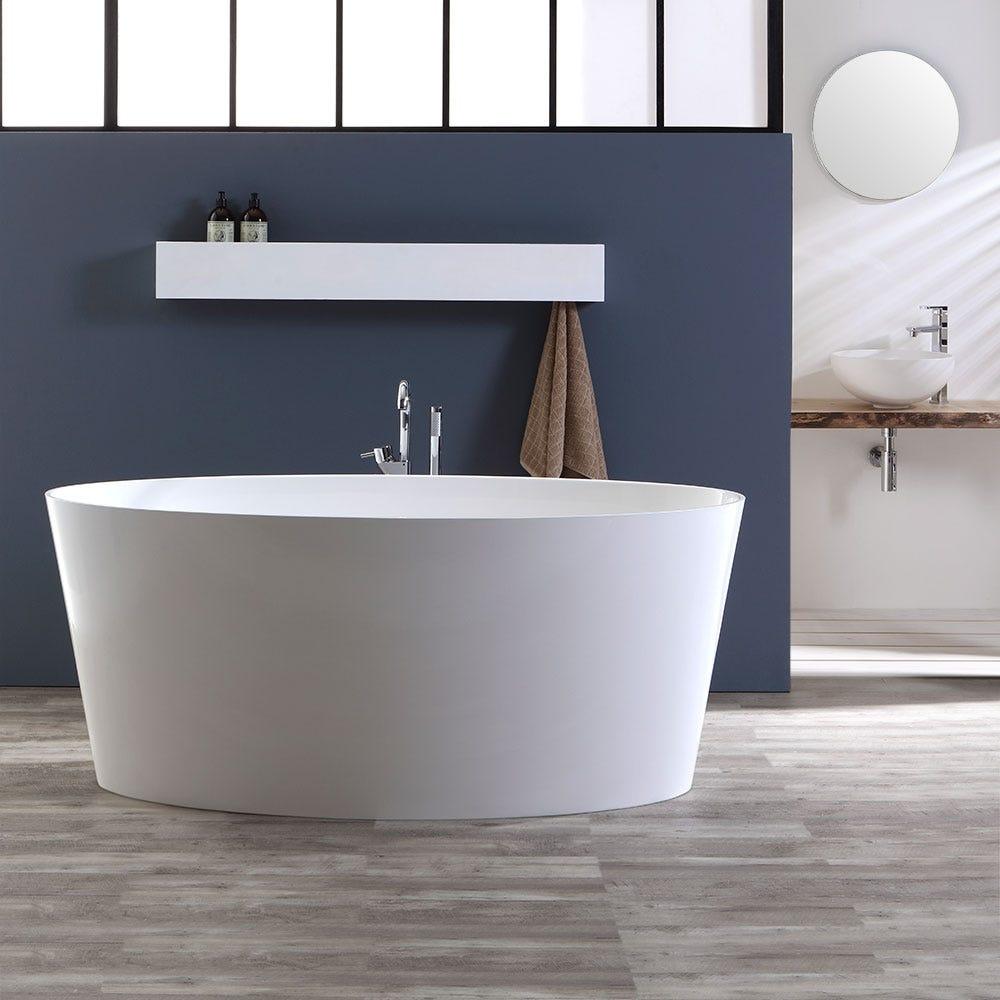 Vasca da bagno per centro stanza in marmo ricomposto stile moderno modello veron ebay - Vasche da bagno dolomite ...