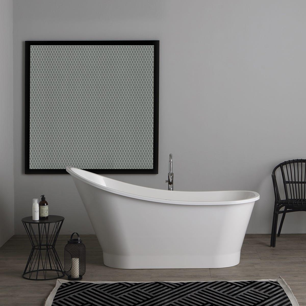 Vasca da bagno in marmo ricomposto modello arisa di ottima - Vasche da bagno dolomite ...