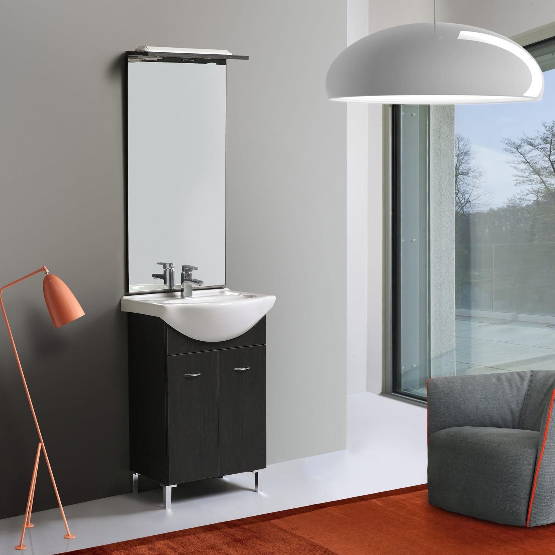Mobile bagno 55 cm lavabo in ceramica rovere tasso ebay - Mobile bagno misure ...