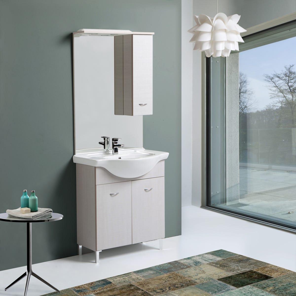 Mobile bagno da 75 cm con lavabo in ceramica  eBay
