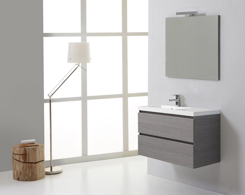 Vasca Da Bagno Sospesa : Mobile da bagno sospeso moderno con doppia vasca da cm con
