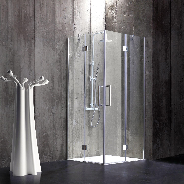 Box doccia 80x80 in cristallo 6 mm senza telaio stile moderno di design ebay - Box doccia senza telaio ...