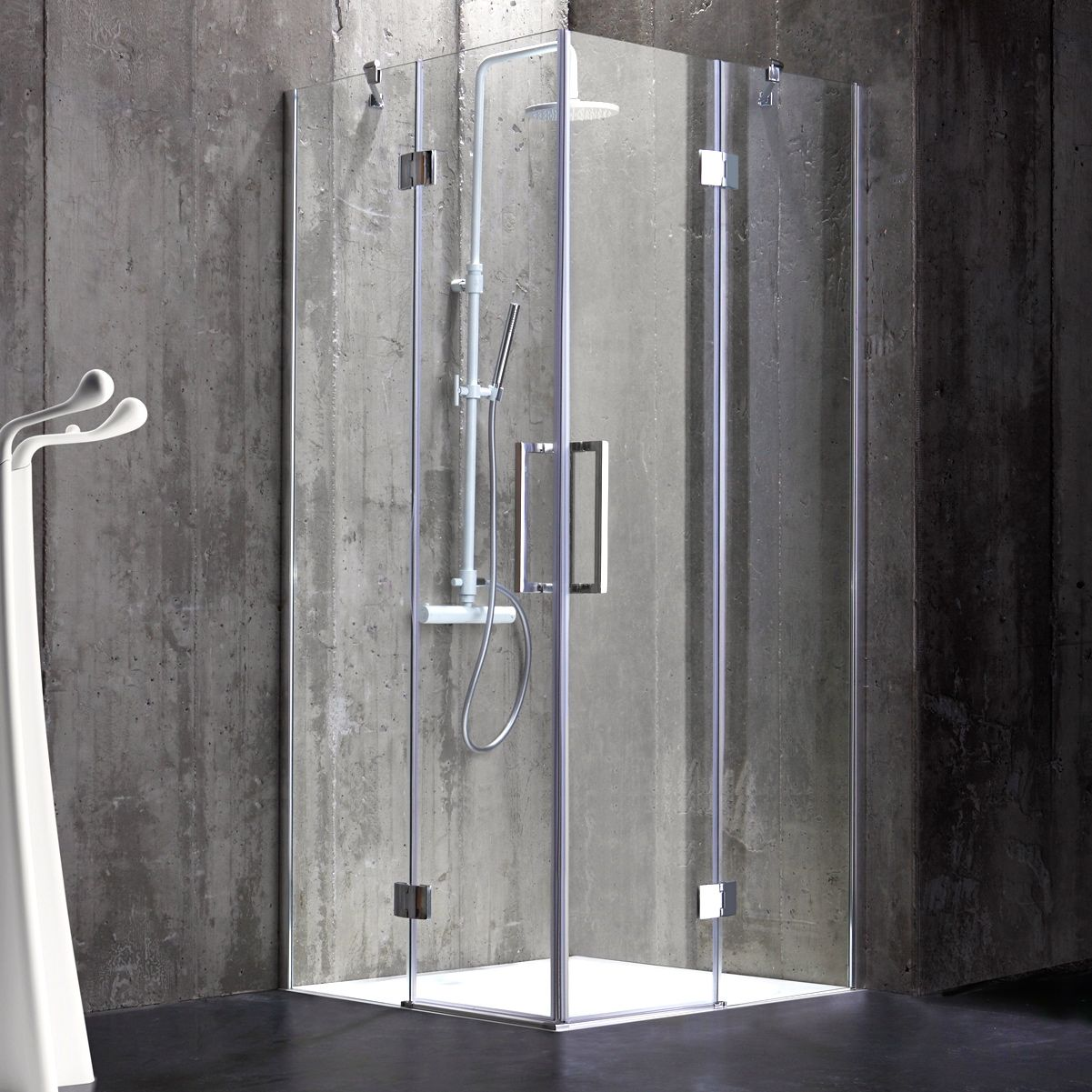 Box doccia 80x80 in cristallo 6 mm senza telaio stile - Box doccia senza telaio ...