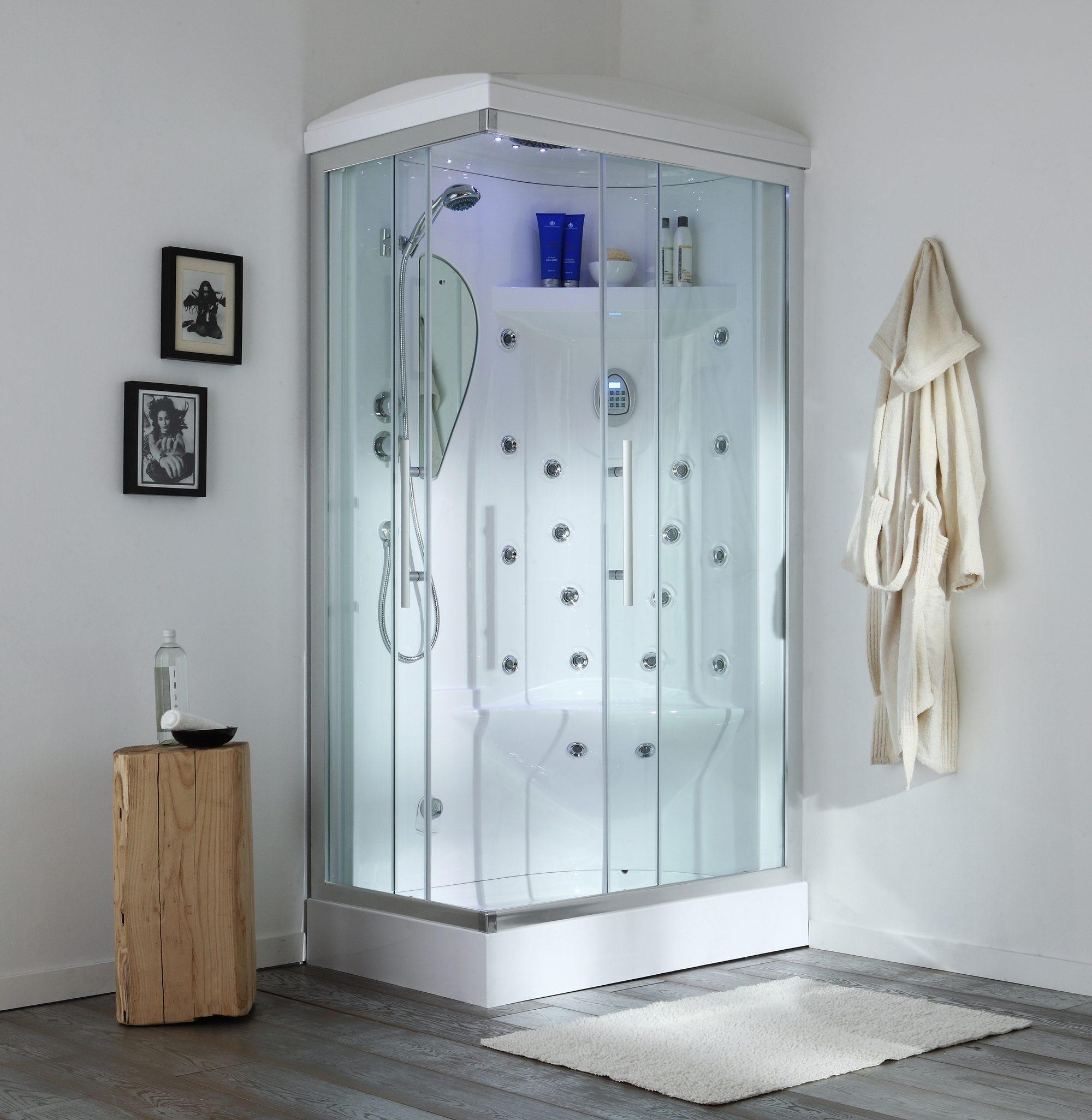Cabina doccia con sauna e idromassaggio 70 x 110 cm iride destra alta qualit ebay - Cabina doccia sauna ...