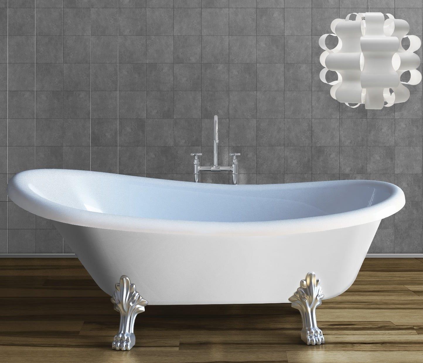 Vasca da bagno classica con piedini in marmo ricomposto - Vasca doccia da bagno ...