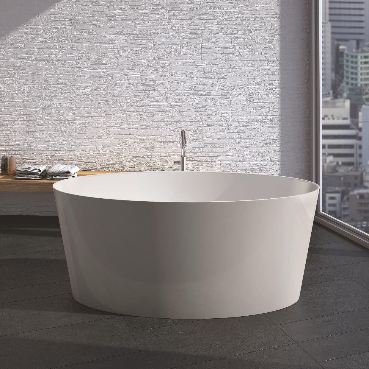 Vasca da bagno per centro stanza in marmo ricomposto stile moderno modello veron ebay - Vasca per bagno ...
