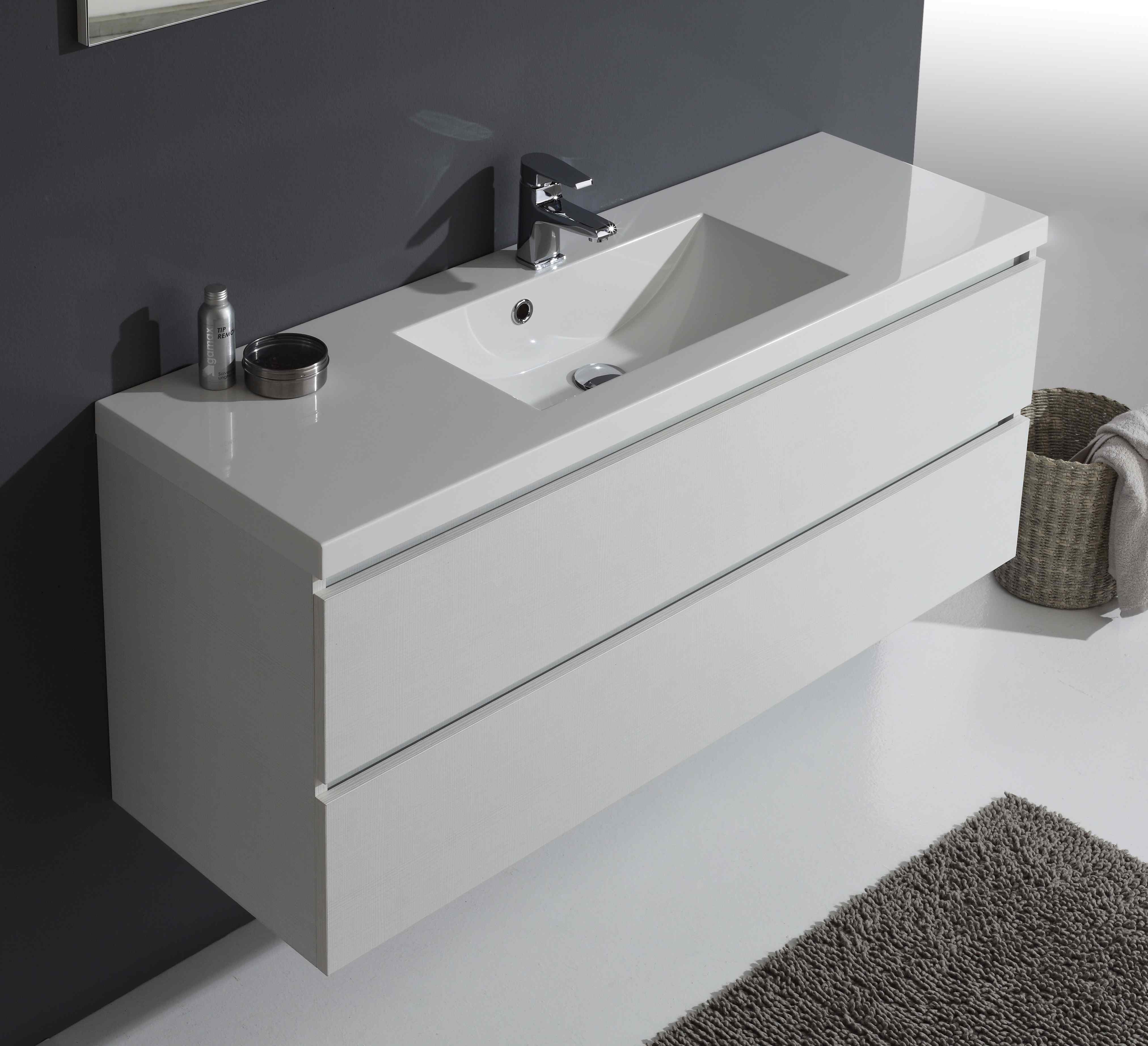 mobile bagno manhattan con cassetti da 120 cm in bianco foresta specchio pensile ebay. Black Bedroom Furniture Sets. Home Design Ideas