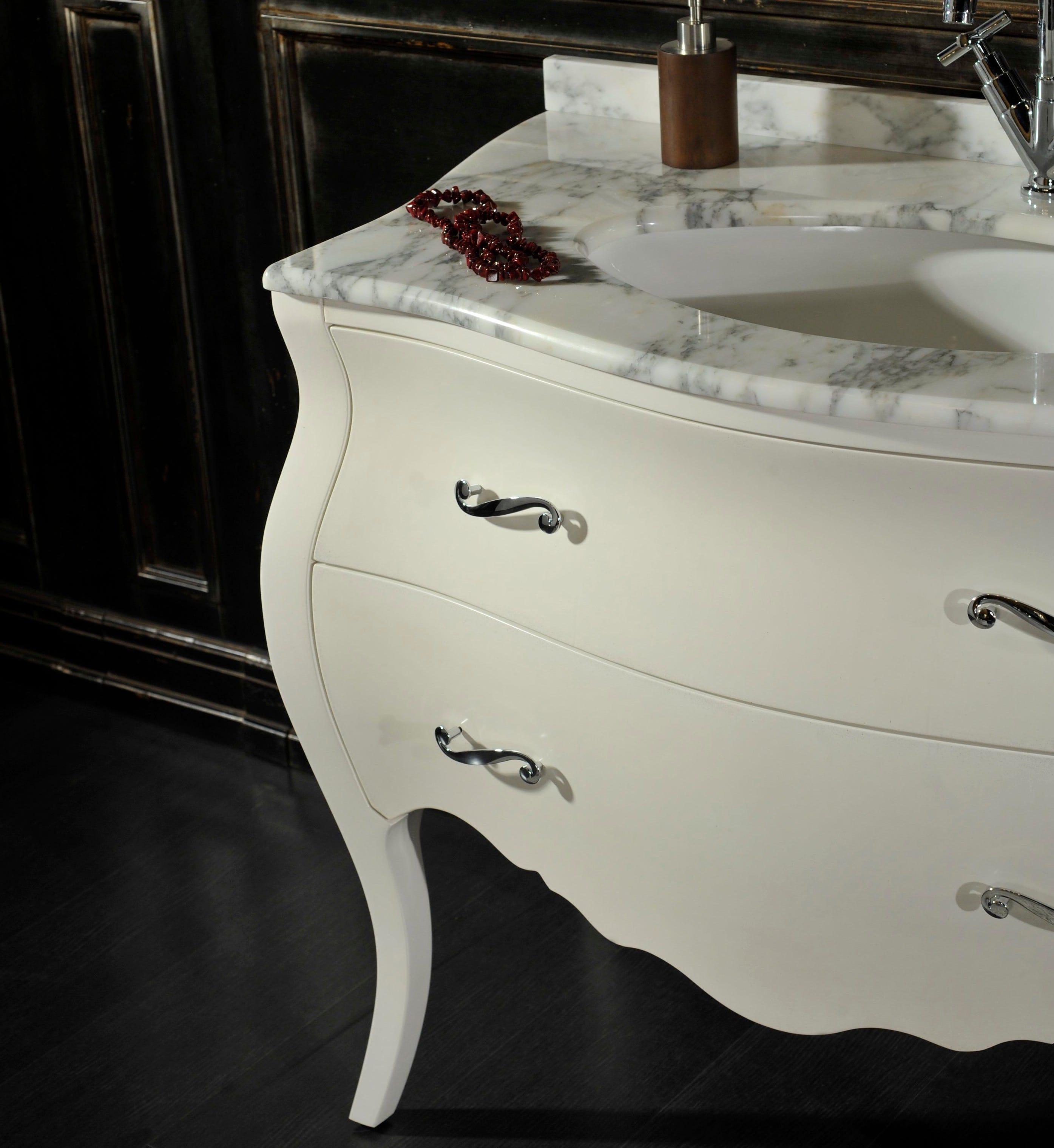 Mobile bagno barocco modello lipari bianco ebay - Mobile bagno barocco ...