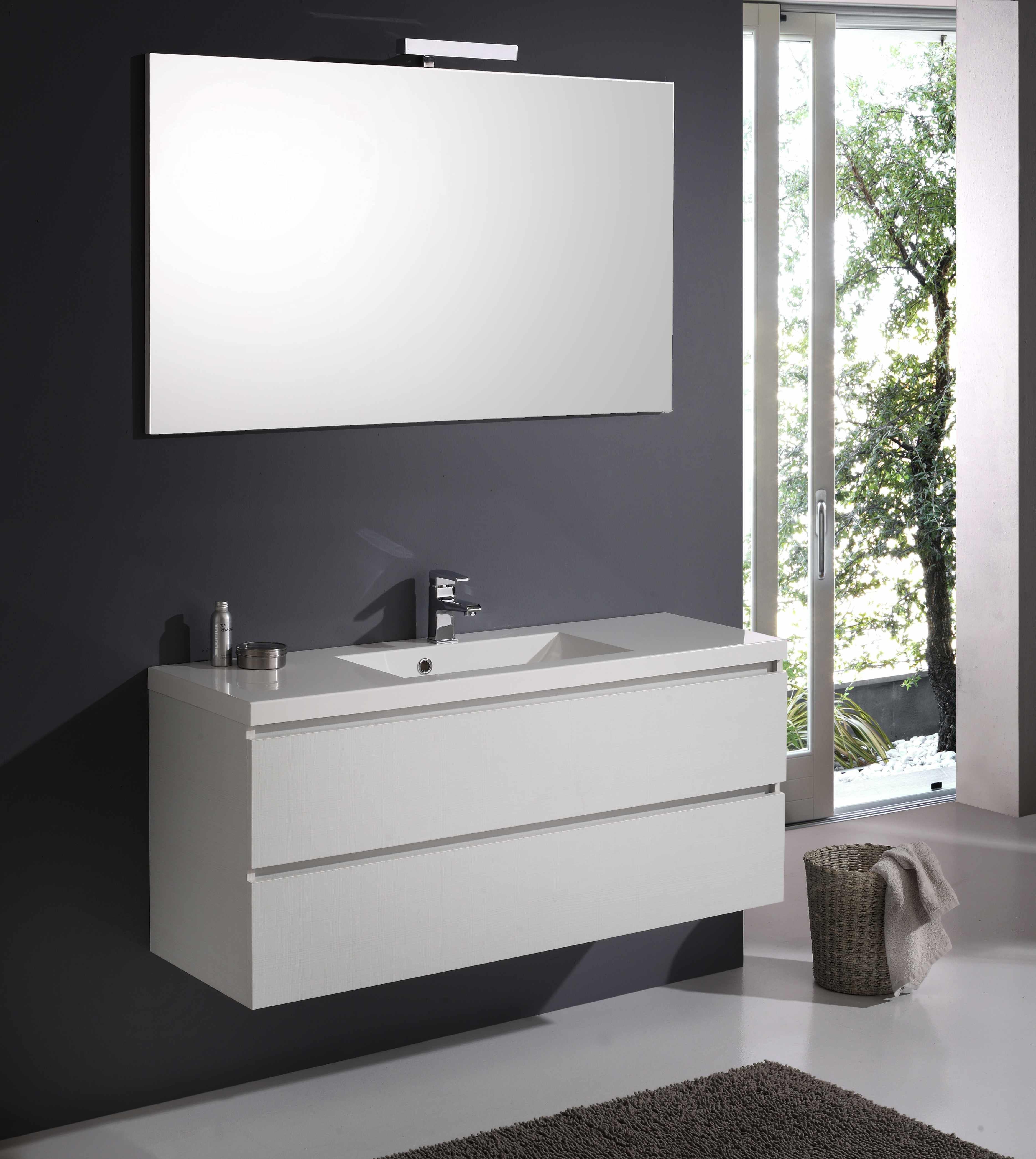 Arredamento bagno larghezza 120 cm in bianco foresta con for Ebay arredamento