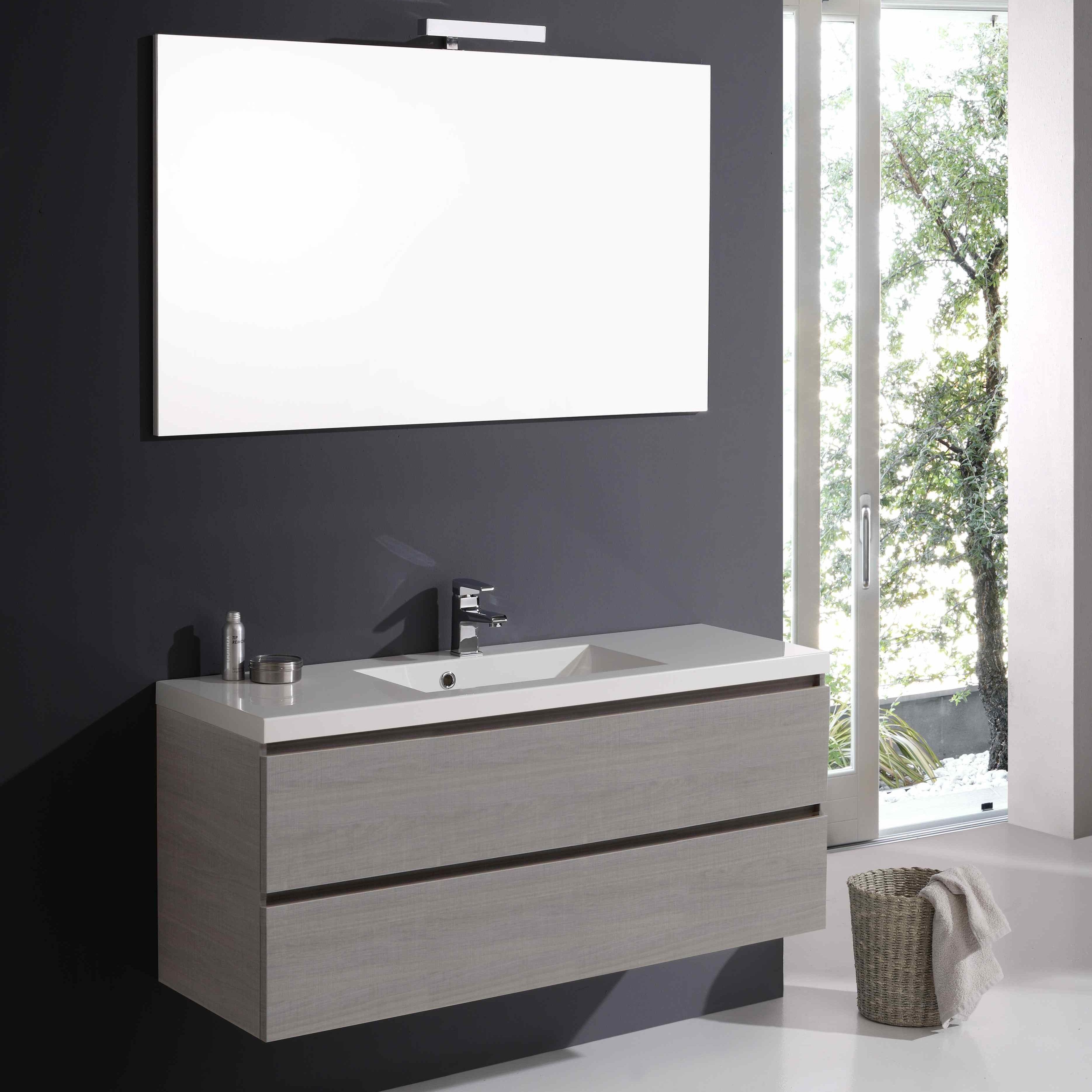 Mobile bagno manhattan con due cassetti da 120 cm con specchio ebay - Mobile bagno 120 cm ...