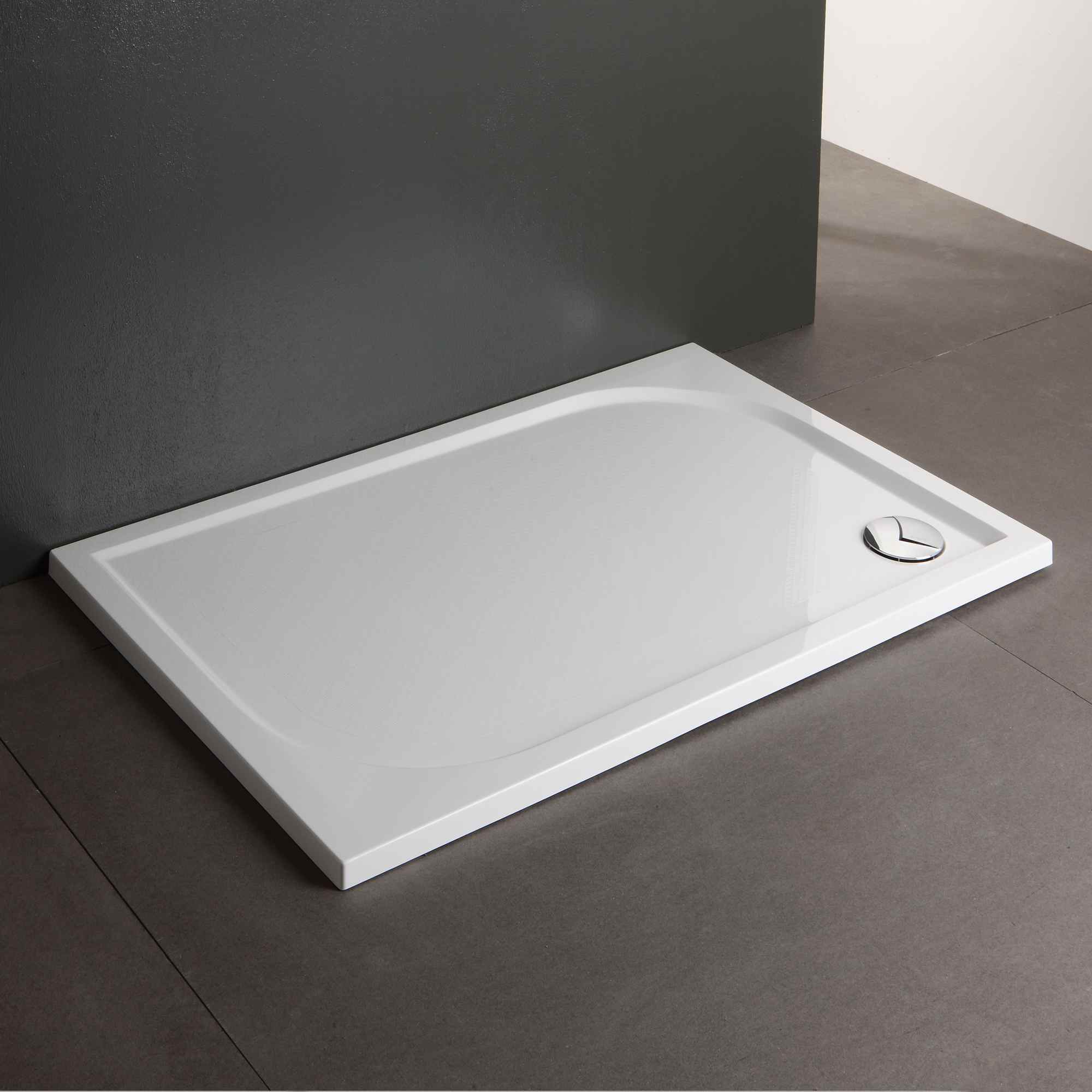 Piatto doccia 80 x 120 cm a filo pavimento ultra sottile - Piatto doccia marmogres ...