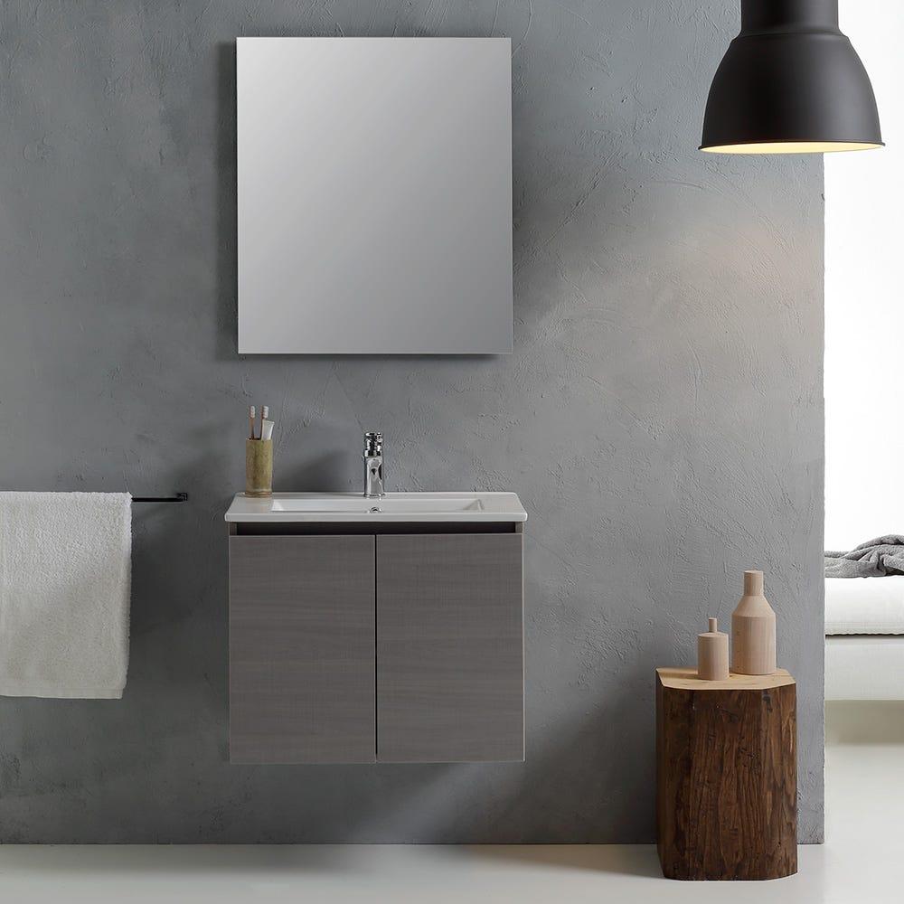Mobile bagno con lavabo 60 cm con ante grigio eur 141 90 for Mobile bagno 60