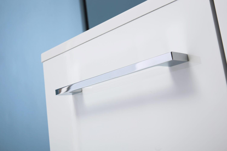 Mobile bagno larghezza 60 cm laccato bianco lucido con specchio