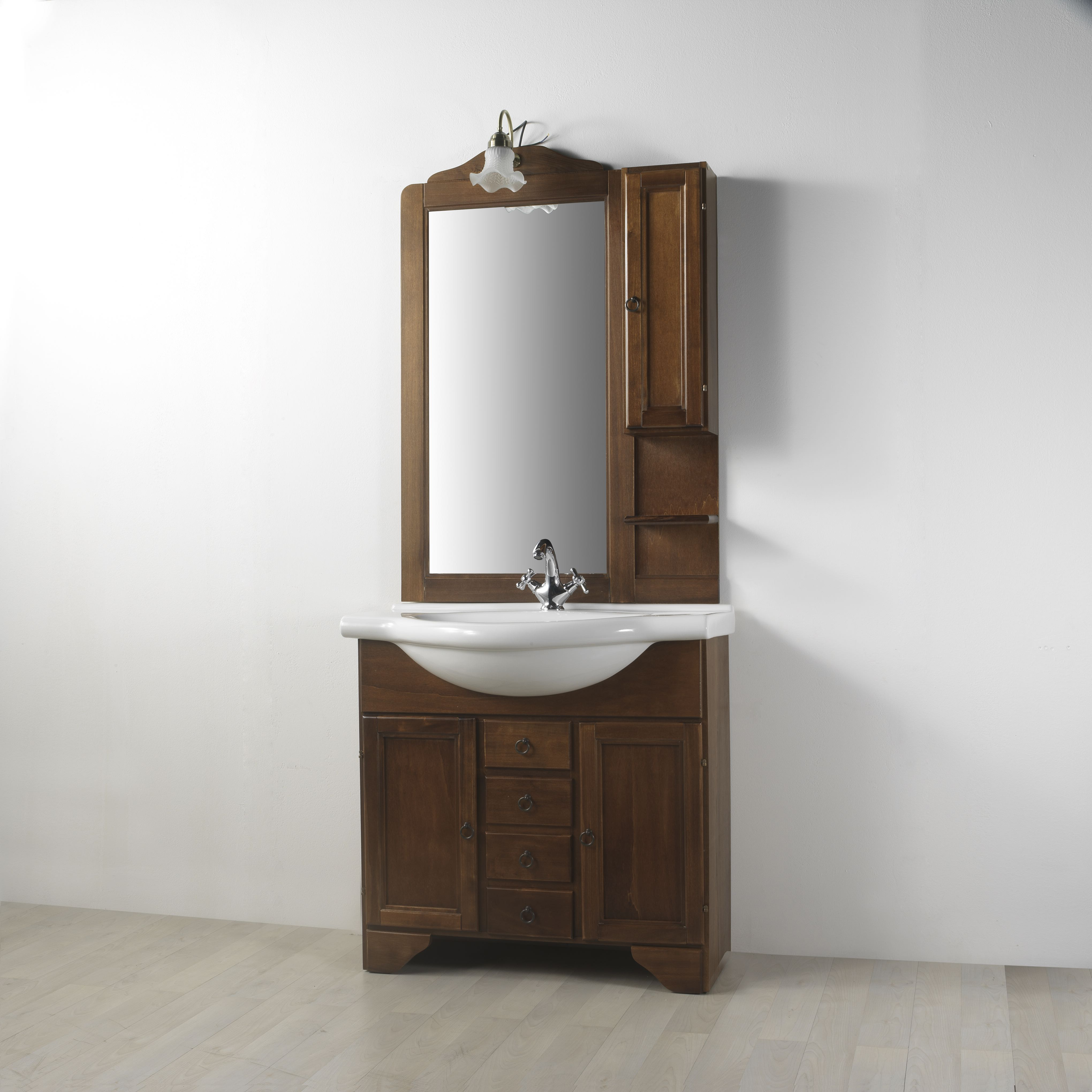 Mobile arredo bagno in arte povera lavanda da 85 cm eur - Arredamento bagno arte povera ...