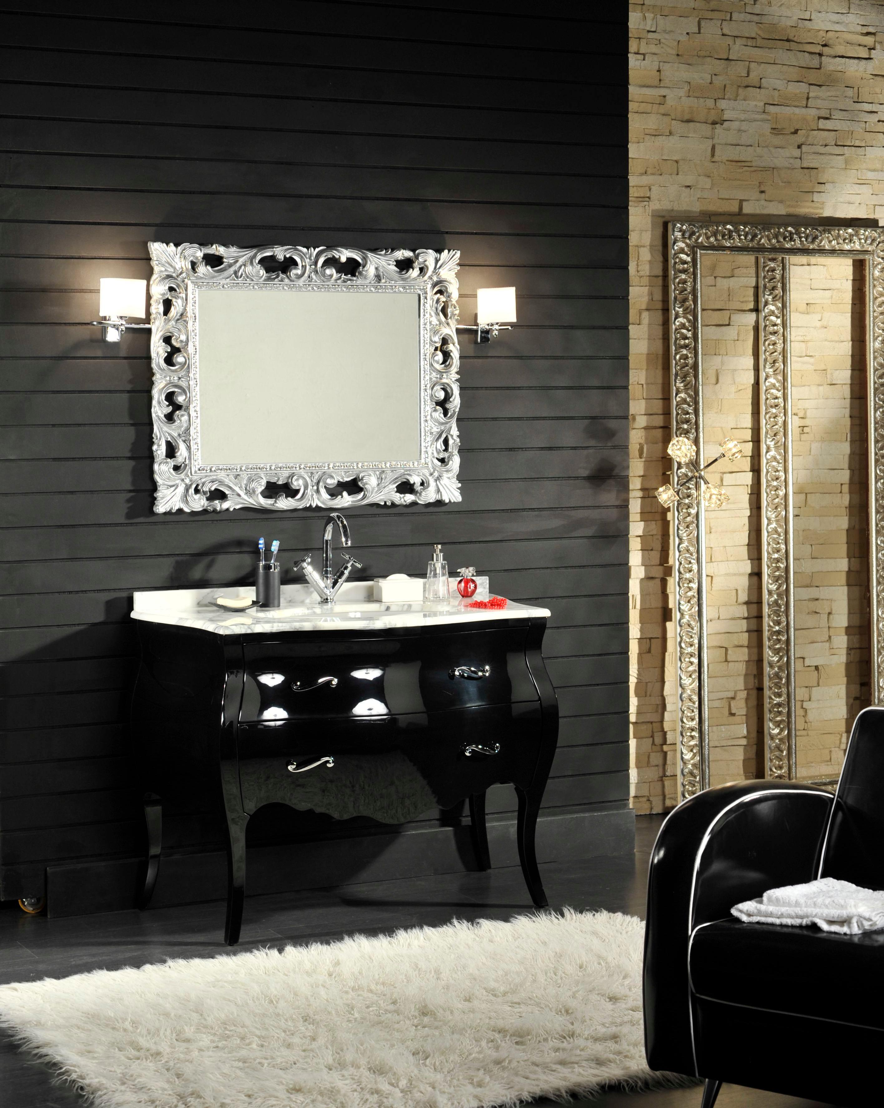 mobile bagno barocco modello lipari nero