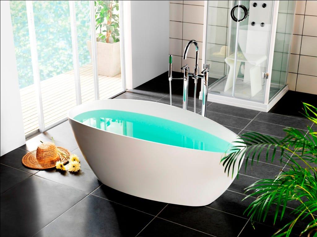 Vasca da bagno in marmo ricomposto design moderno e - Vasche da bagno rotonde ...
