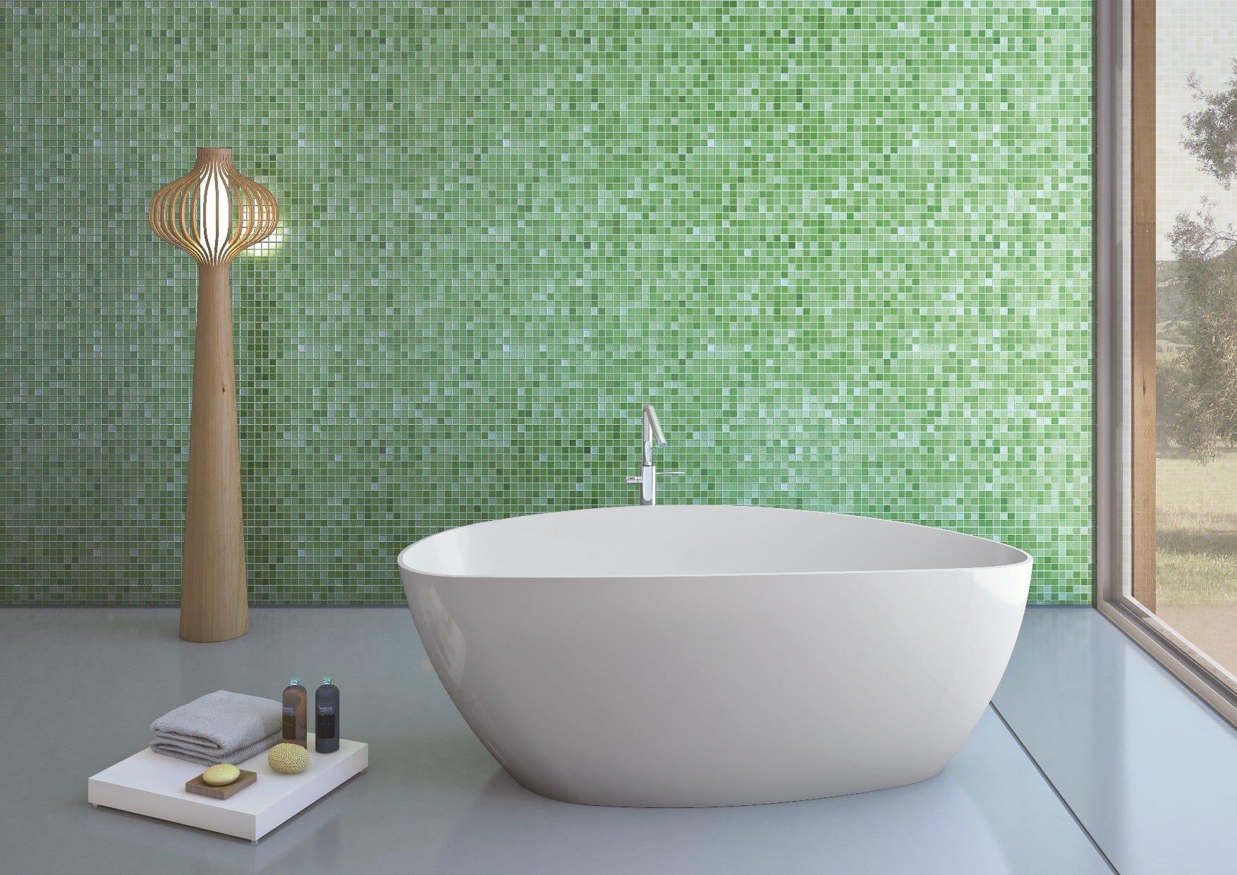Vasca da bagno in marmo ricomposto design moderno e raffinato modello rachele ebay - Vasche da bagno rotonde ...