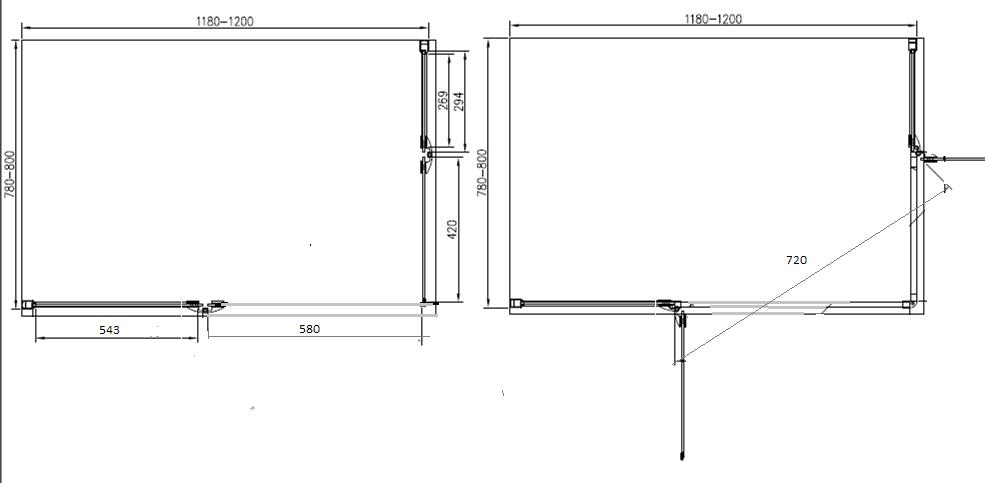 Cabina Doccia Angolare Misure.Moderno Box Doccia 80x120 Senza Telaio In Cristallo 6mm Kv Store